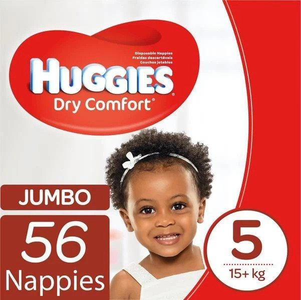 Huggies Baby Huggies Dry Comfort Jumbo Pack Size 5 Junior, 56's 239008
