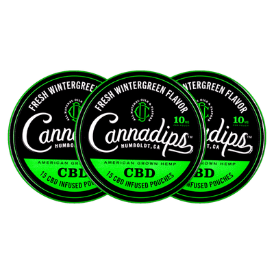 Fresh Wintergreen CBD (3) Combo Pack - Cannadips CBD