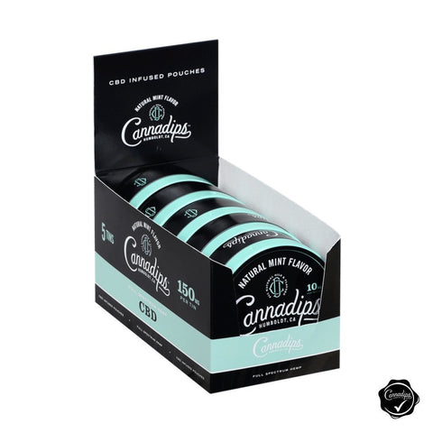 Natural Mint CBD (5) Log Pack - Cannadips CBD