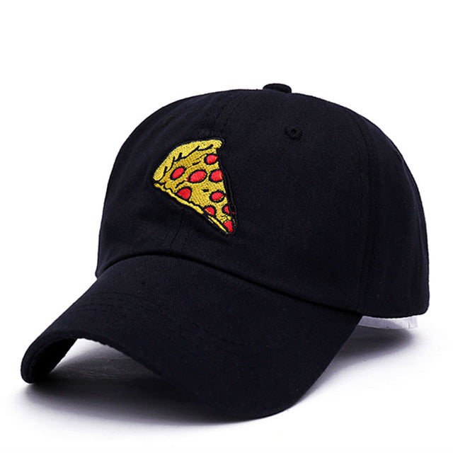 pizza embroidery dad cap