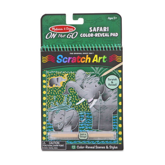 Melissa & Doug On-The-Go Scratch Art Color-Reveal Pad Safari