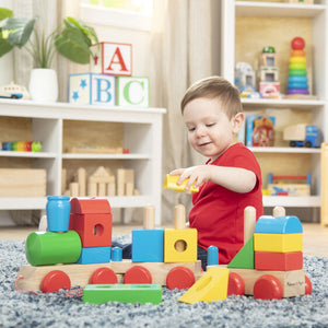 Melissa & Doug Jumbo Wooden Stacking Train