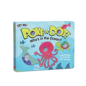Melissa & Doug Poke-A-Dot Board Book - Who's in the Ocean