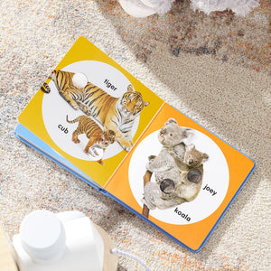 Melissa & Doug Poke-A-Dot Board Book - Wild Animal Families