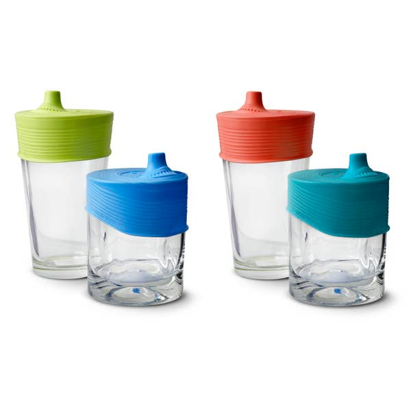 GoSili Silicone Stretchy Lids with Sippy Spout 2pk