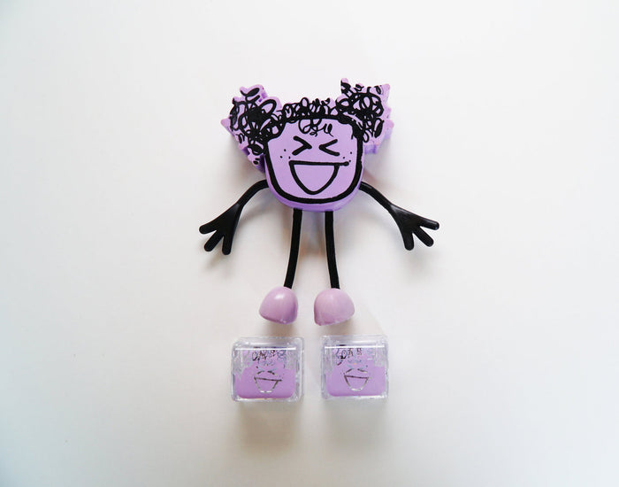 Glo Pals Character Friend w/ 2 Light Up Cubes - Lumi Lavender