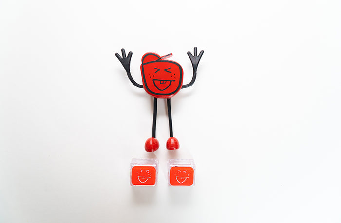 Glo Pals Character Friend w/ 2 Light Up Cubes - Sammy Red