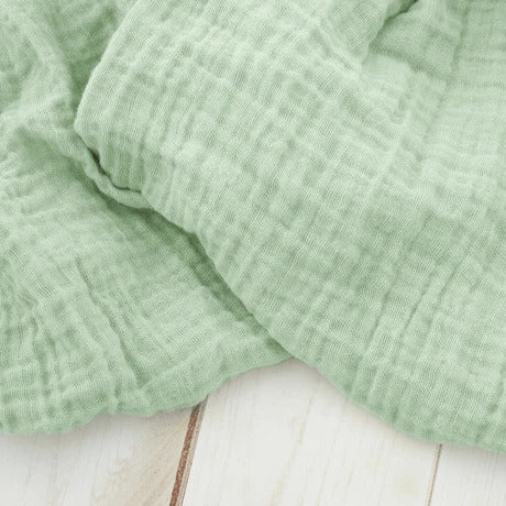 Sugar + Maple Classic Muslin Swaddle - Willow Green