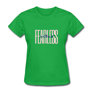 Fearless in Christ Women's T-Shirt - bright green