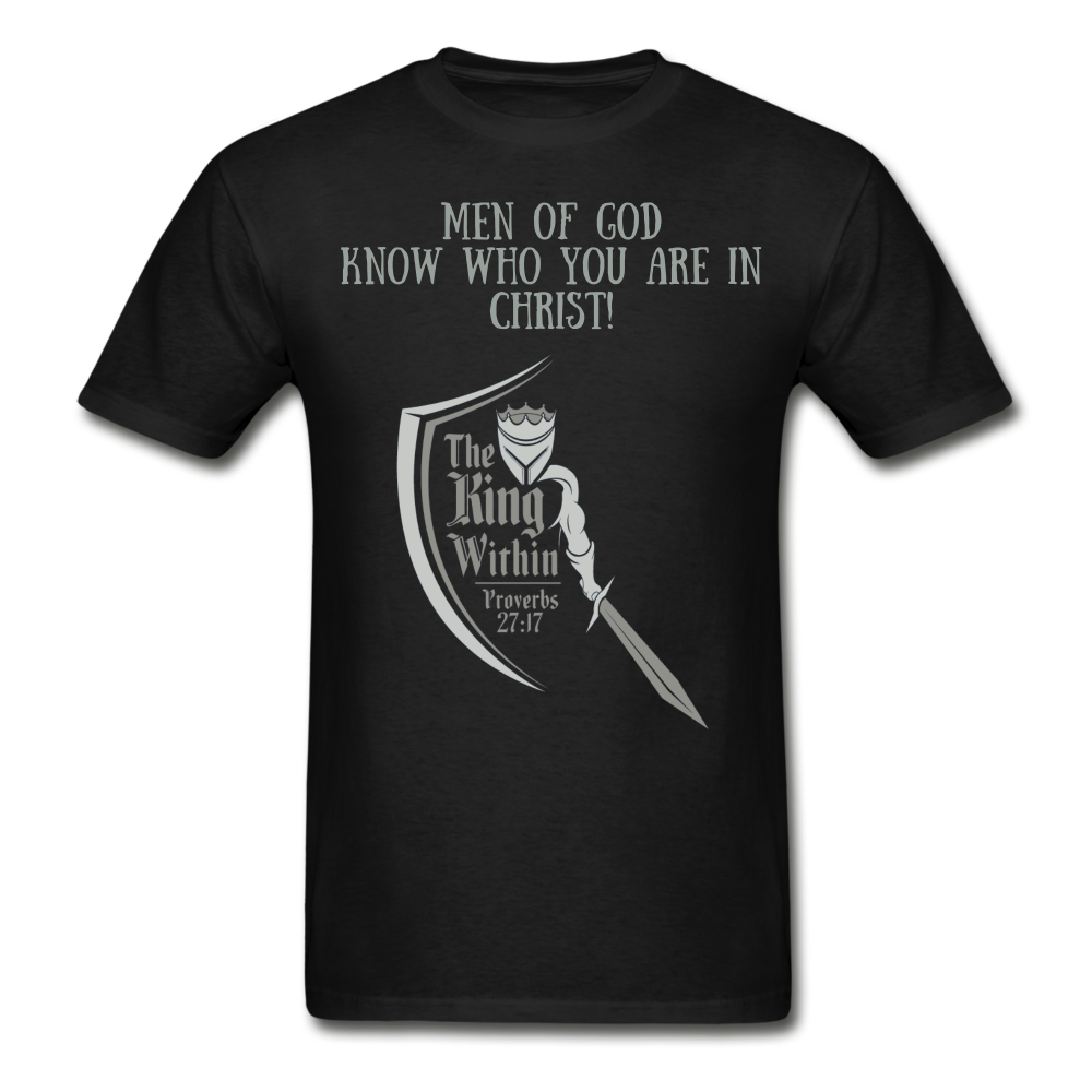 Know Who You Are Gildan Ultra Cotton Adult T-Shirt - black