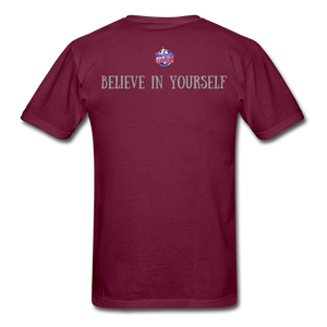 Know Who You Are Gildan Ultra Cotton Adult T-Shirt - burgundy