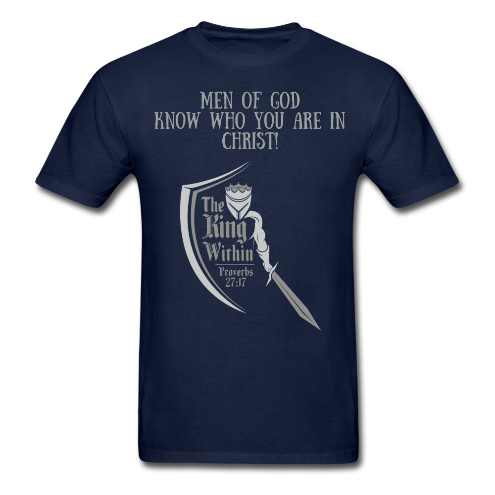 Know Who You Are Gildan Ultra Cotton Adult T-Shirt - navy