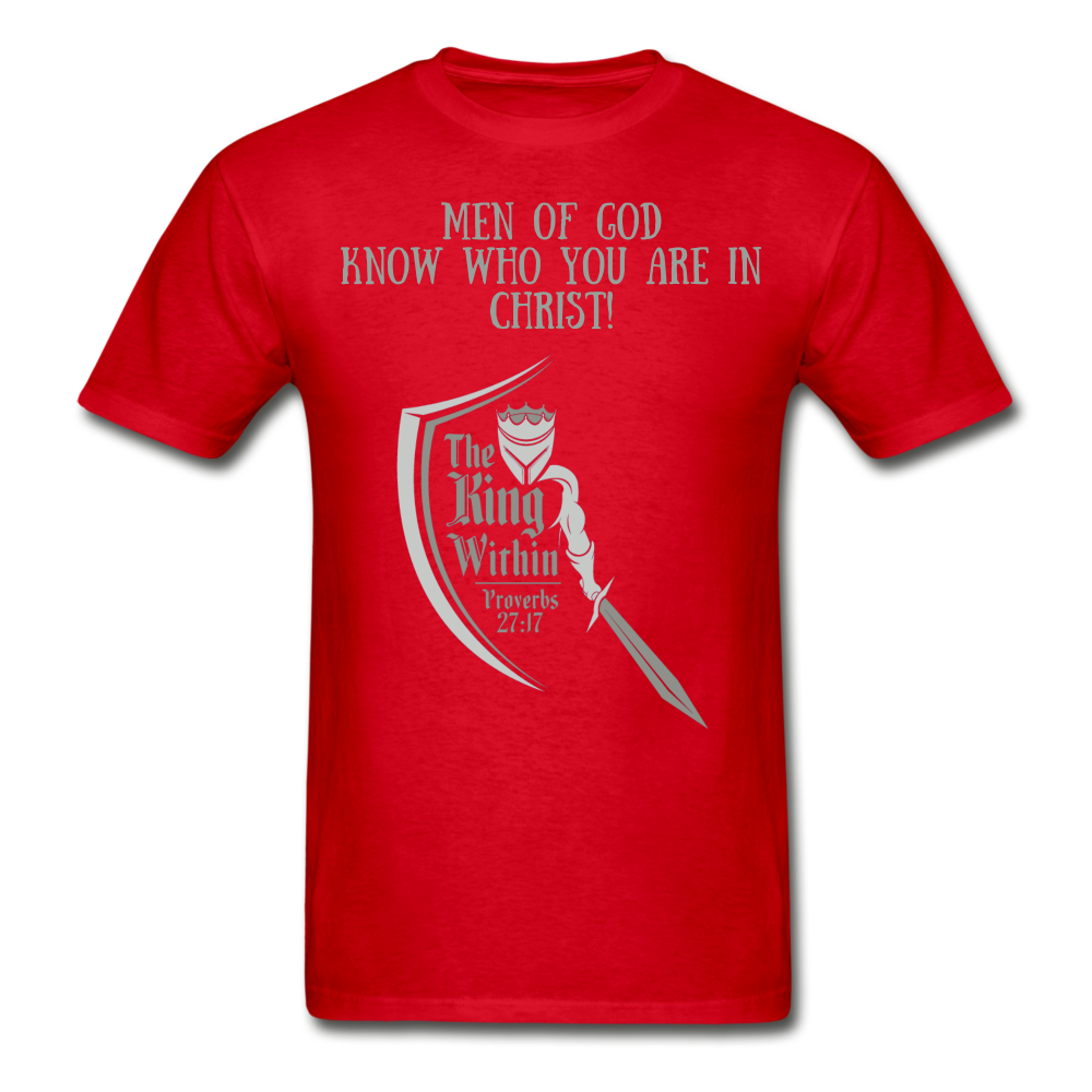 Know Who You Are Gildan Ultra Cotton Adult T-Shirt - red