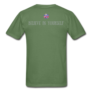 Know Who You Are Gildan Ultra Cotton Adult T-Shirt - military green