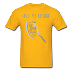 Load image into Gallery viewer, Give Me Christ Gildan Ultra Cotton Adult T-Shirt - gold