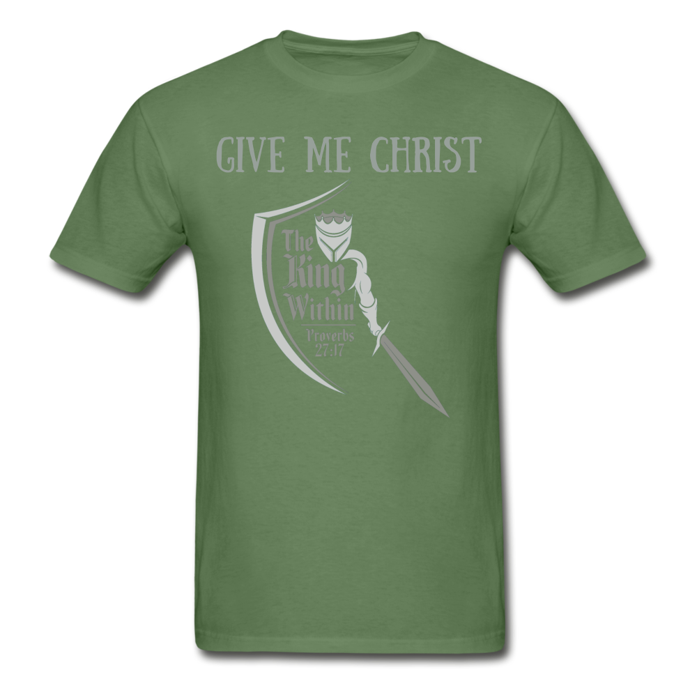 Give Me Christ Gildan Ultra Cotton Adult T-Shirt - military green