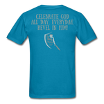 Load image into Gallery viewer, Phil 4:4 Men's T-Shirt - turquoise