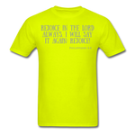 Load image into Gallery viewer, Phil 4:4 Men's T-Shirt - safety green