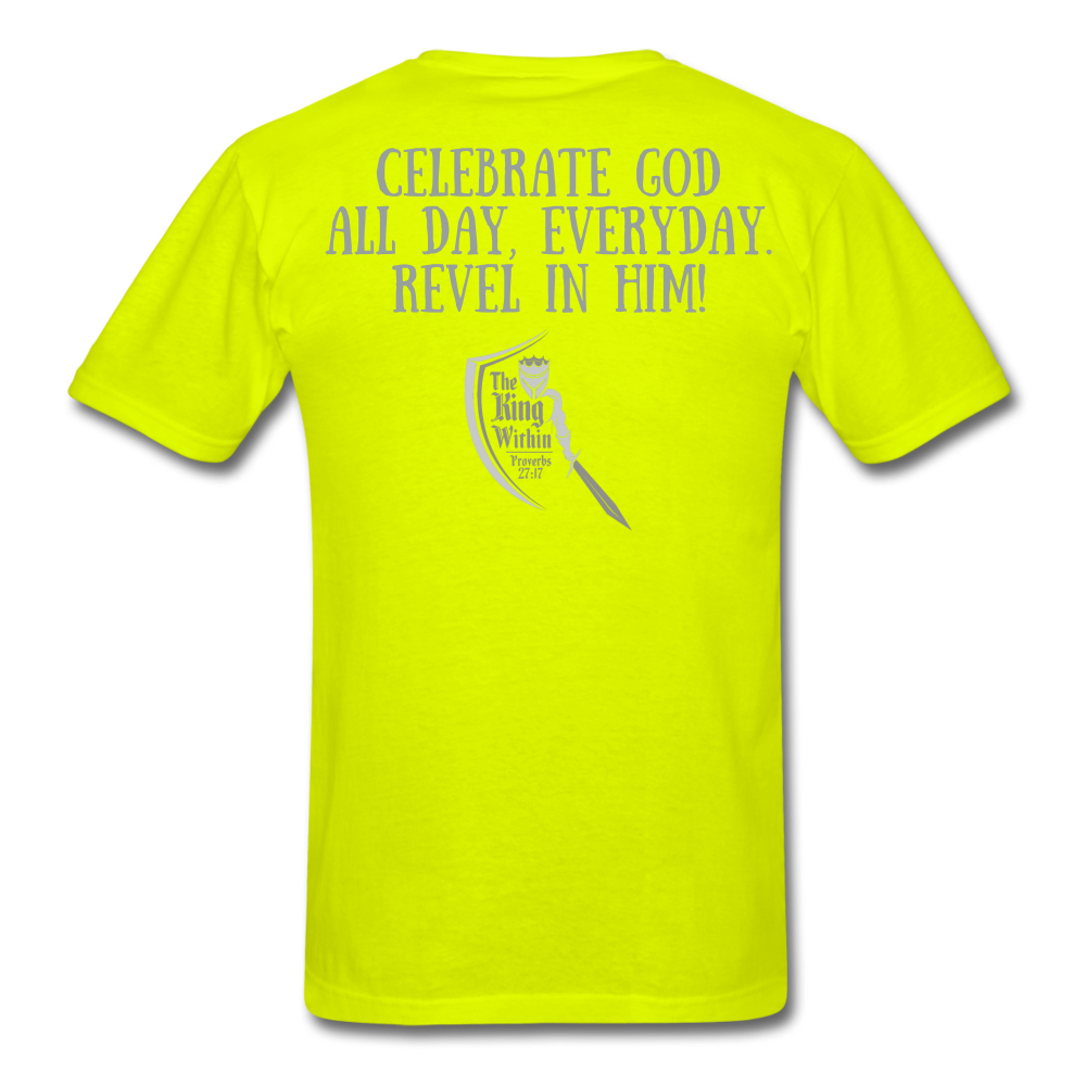 Phil 4:4 Men's T-Shirt - safety green