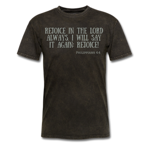 Phil 4:4 Men's T-Shirt - mineral black