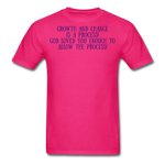 Load image into Gallery viewer, Trust the Process Men's T-Shirt - fuchsia