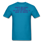 Load image into Gallery viewer, Trust the Process Men's T-Shirt - turquoise
