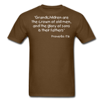 Load image into Gallery viewer, Grandchildren are the Crown Men's T-Shirt - brown