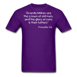 Load image into Gallery viewer, Grandchildren are the Crown Men's T-Shirt - purple
