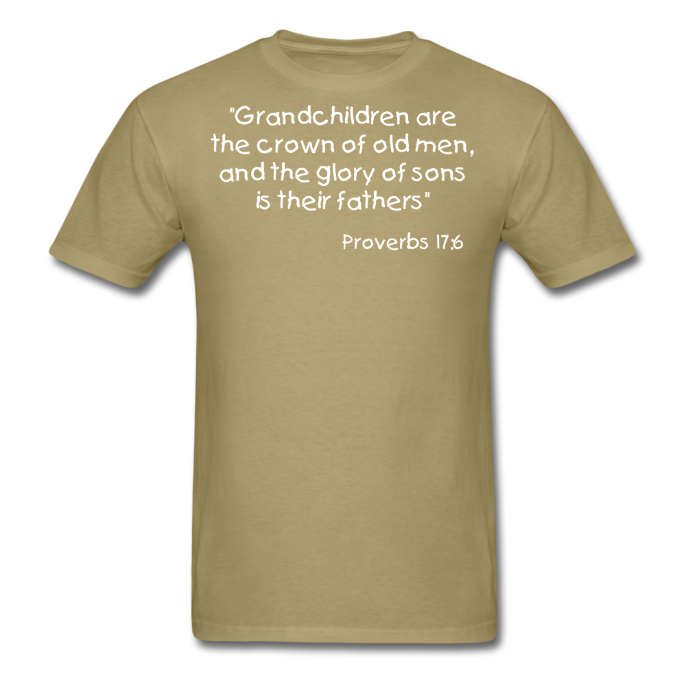 Grandchildren are the Crown Men's T-Shirt - khaki