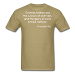 Load image into Gallery viewer, Grandchildren are the Crown Men's T-Shirt - khaki