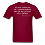 Load image into Gallery viewer, Grandchildren are the Crown Men's T-Shirt - burgundy