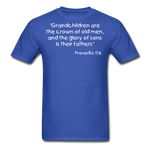 Load image into Gallery viewer, Grandchildren are the Crown Men's T-Shirt - royal blue
