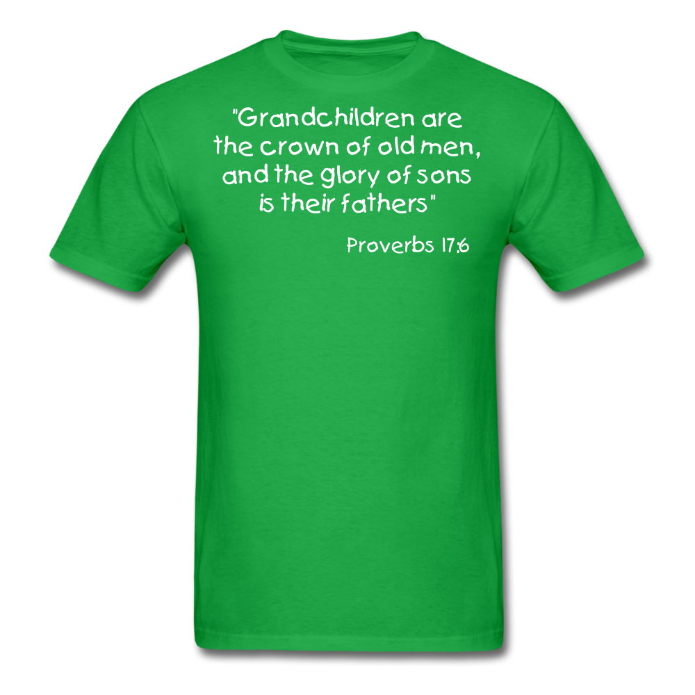 Grandchildren are the Crown Men's T-Shirt - bright green