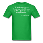 Load image into Gallery viewer, Grandchildren are the Crown Men's T-Shirt - bright green