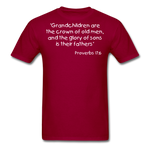 Load image into Gallery viewer, Grandchildren are the Crown Men's T-Shirt - dark red