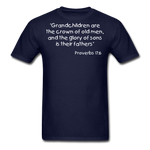 Load image into Gallery viewer, Grandchildren are the Crown Men's T-Shirt - navy