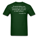 Load image into Gallery viewer, Grandchildren are the Crown Men's T-Shirt - forest green