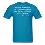 Load image into Gallery viewer, Grandchildren are the Crown Men's T-Shirt - turquoise