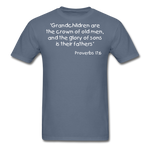 Load image into Gallery viewer, Grandchildren are the Crown Men's T-Shirt - denim