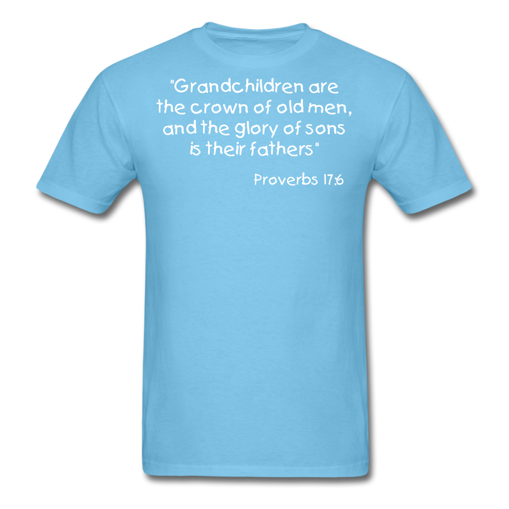 Grandchildren are the Crown Men's T-Shirt - aquatic blue