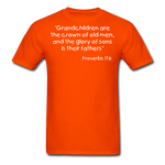 Load image into Gallery viewer, Grandchildren are the Crown Men's T-Shirt - orange