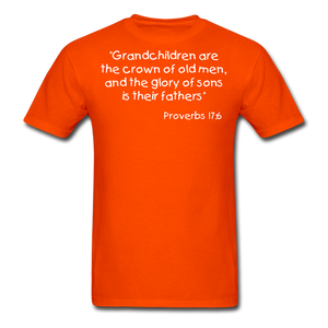 Grandchildren are the Crown Men's T-Shirt - orange