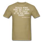 Load image into Gallery viewer, Reckless Words Unisex Classic T-Shirt - khaki