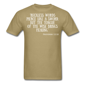 Reckless Words Unisex Classic T-Shirt - khaki
