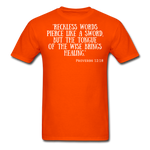 Load image into Gallery viewer, Reckless Words Unisex Classic T-Shirt - orange