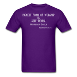 Load image into Gallery viewer, Highest Form of Worship Unisex T-Shirt - purple