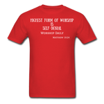 Load image into Gallery viewer, Highest Form of Worship Unisex T-Shirt - red
