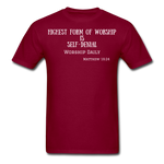 Load image into Gallery viewer, Highest Form of Worship Unisex T-Shirt - burgundy
