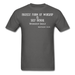 Load image into Gallery viewer, Highest Form of Worship Unisex T-Shirt - charcoal