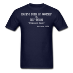 Load image into Gallery viewer, Highest Form of Worship Unisex T-Shirt - navy